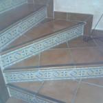 escalera de gres