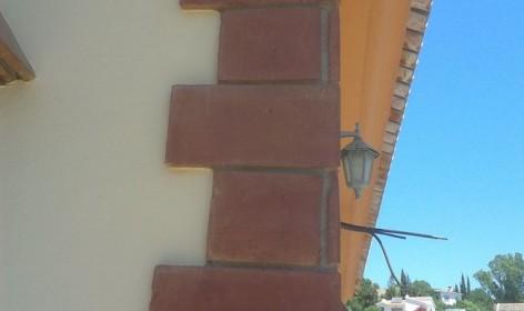 esquina de fachada