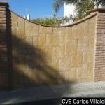 revestimiento de muro en fachada