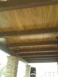 techo losa acabado madera