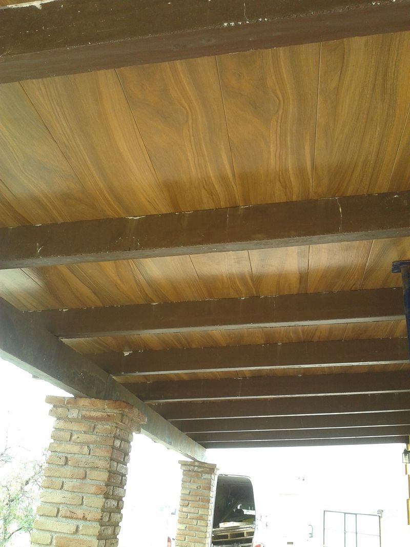 Techo de losa imitacion madera 3 presupuesto obras m laga for Losa techo